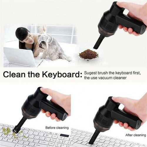 Mini Portable Handheld Vacuum Cleaner - USB Powered - Black