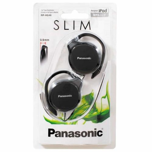 Panasonic Slim Clip-on Earphones - Black