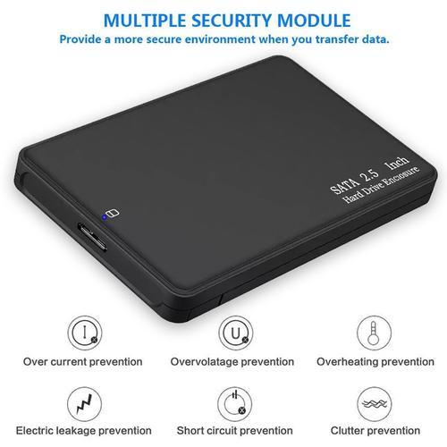 2.5 inch SATA Hard Drive Enclosure USB 3.0 - Black