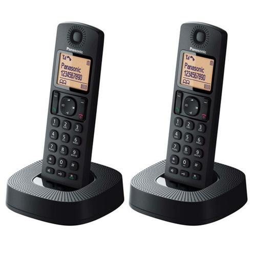 Panasonic Digital Cordless Phones - Black (KX-TGC312EB) - 2 Pack