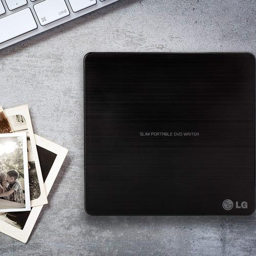 LG 8x USB 2.0 Portable Slim DVD-RW - Black