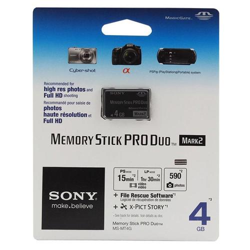 Sony 4GB Memory Stick PRO Duo Card