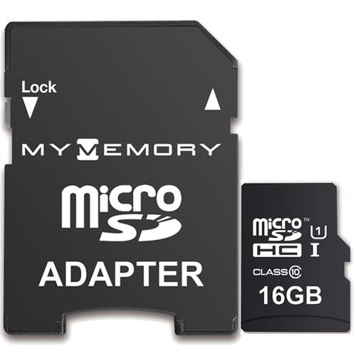 MyMemory 16GB Micro SD Card (SDHC) UHS-I U1 + Adapter - 90MB/s