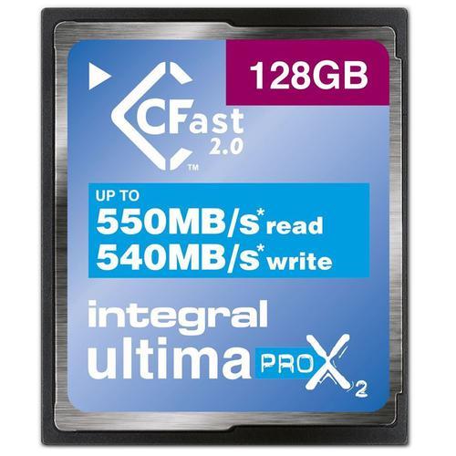 Integral 128GB UltimaPRO-X2 CFast 2.0 Card - 550MB/s