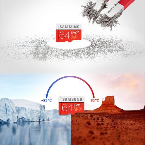 Samsung 64GB Evo Plus Micro SD Card (SDXC) UHS-I U3 + Adapter - 100MB/s
