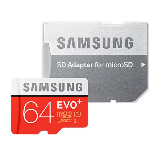 Samsung 64GB Evo Plus Micro SD Card (SDXC) UHS-I U3 + Adapter - 100MB/s