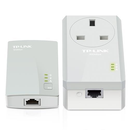 TP-Link 600 Mbps Passthrough Powerline Adapter Starter Kit