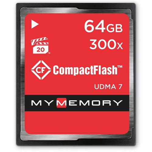 MyMemory 64GB 300X Compact Flash Card - 45MB/s