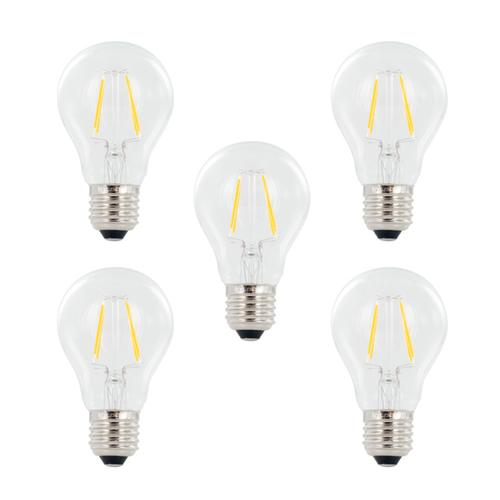 Integral GLS LED Full Glass Bulb E27 4W (40W) 2700K Non-Dimmable Lamp - 5 Pack
