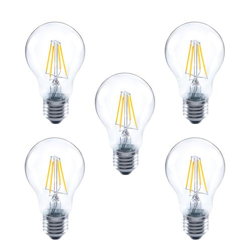 Integral GLS LED Classic Full Glass Bulb E27 4.5W (40W) 2700K Dimmable Lamp - 5 Pack