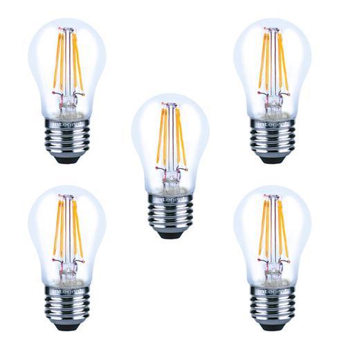 Integral LED Mini Globus aus Glaskolben E27 4W (40W) 2700K Nicht-Dimmbare Lampe - 5er Pack