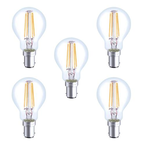 Integral LED Full Glass Mini Globe B15 4W (36W) 2700K Non-Dimmable Lamp - 5 Pack