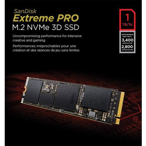 SanDisk 1TB Extreme PRO M.2 NVMe 3D SSD