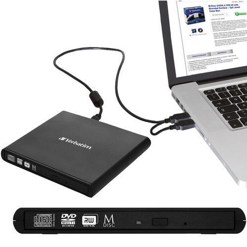 Verbatim External Slimline CD/DVD Writer USB 2.0 Black