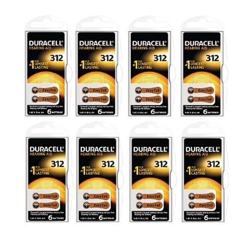Duracell Hearing Aid Battery - 8 x 6 Pack