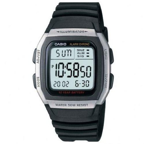 Casio Unisex Digital Sports Watch with Extended Battery Life - Black