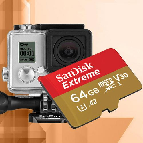 SanDisk 64GB Extreme A2 Micro SD Card (SDXC) UHS-I U3 + Adapter - 160MB/s