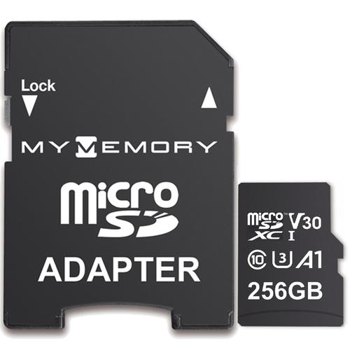MyMemory 256GB V30 PRO Micro SD Card (SDXC) A1 UHS-1 U3 + Adapter - 100MB/s