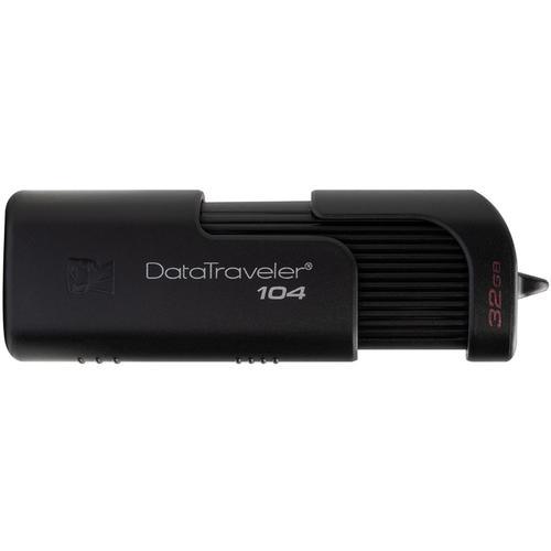 Kingston 32GB DataTraveler 104 USB Flash Drive - Black