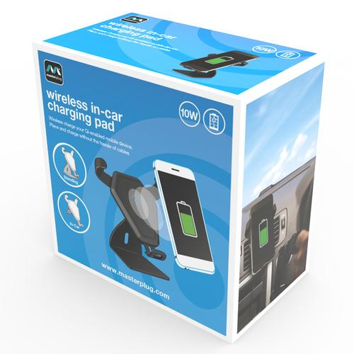 Masterplug 10W In-Car Wireless Charger - Black