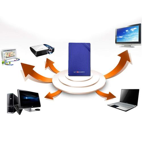 MyMemory 500GB USB 3.0 Portable Hard Drive - Blue