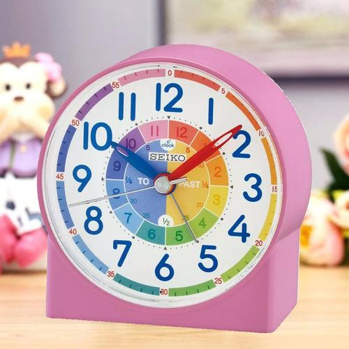 Seiko Childrens Time Teraching Alarm Clock - Pink