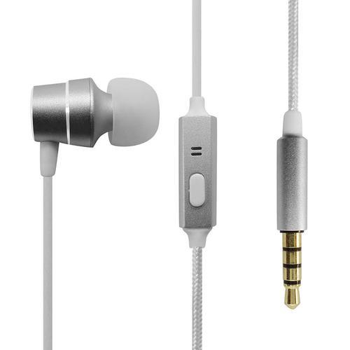 Anker Soundbuds Mono Wired Earphones - Silver