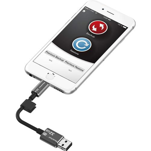 PhotoFast 32GB iOS OTG Memories Data Charging Cable - Black
