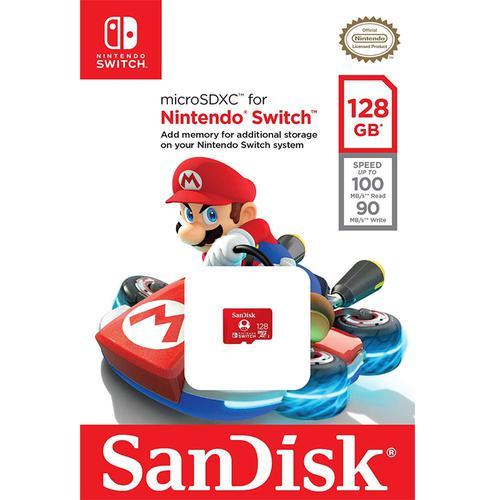 SanDisk 128GB Nintendo Switch Micro SD Karte (SDXC) UHS-I U3 - 100MB/s
