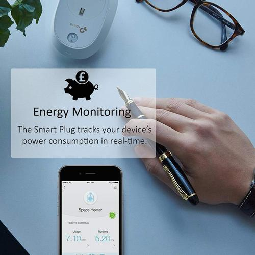 TP-Link Kasa Smart Wi-Fi Plug with Energy Monitoring (HS110)