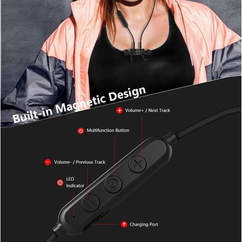 oneo Bluetooth Sports Wireless Earphones - Black