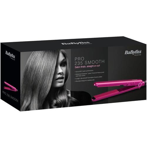BaByliss Pro 235 Smooth Ceramic Straightener - Pink