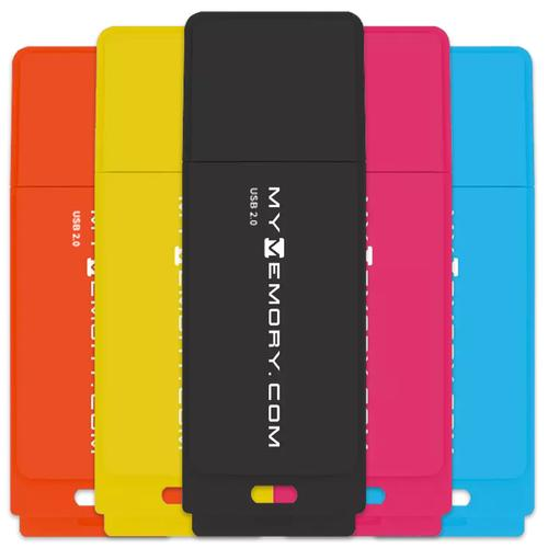 MyMemory 8GB Neon USB 2.0 Flash Drive - 5er Pack