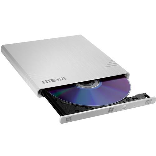 Lite-On 8x Ultra Slim Portable DVD Writer - White