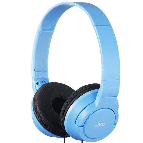 JVC Powerful Bass On-Ear Headphones - Light Blue
