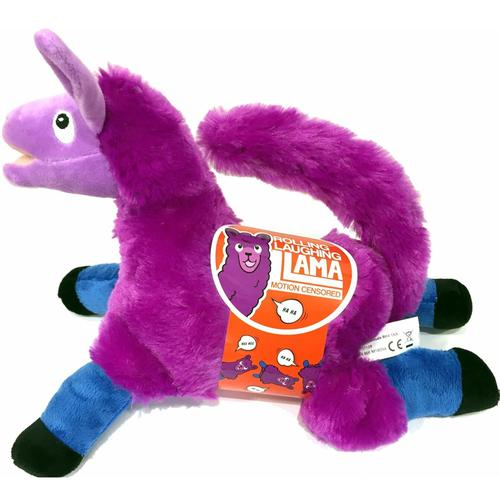 Laughing Llama Cuddly Electronic Play Toy Plush Figure - Purple