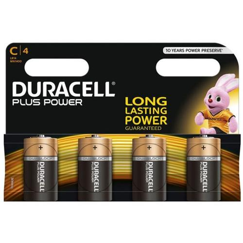 Duracell Plus Power Size C - 4 Pack