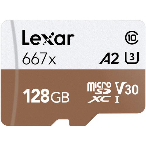 Lexar 128GB Professional Micro SD (SDXC) Card UHS-I U3 A2 + Adapter - 100MB/s
