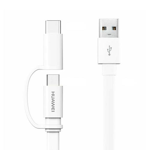 Huawei USB-C and Micro USB Data Charging Cable 1.5M - White