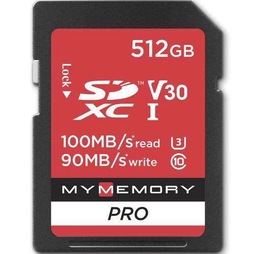 MyMemory 512GB V30 PRO SD Card (SDXC) UHS-I U3 - 100MB/s