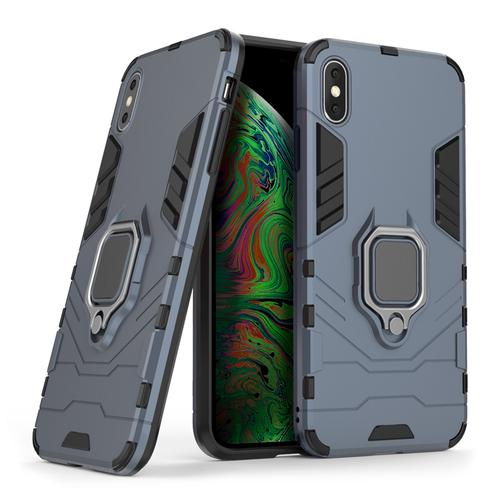 oneo ARMOUR Grip iPhone XS Max Protective Case - Navy Blue
