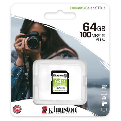 Kingston 64GB Canvas Select Plus SD Card (SDXC) UHS-I U1 - 100MB/s