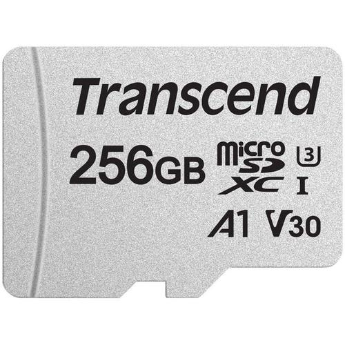 Transcend 256GB 300S V30 A1 Micro SD Card (SDXC) UHS-I U3 + Adapter - 95MB/s