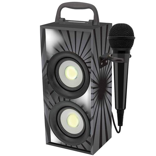 Lexibook iParty Mini Bluetooth Karaoke Tower with Microphone - Black