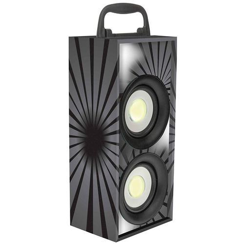 Lexibook iParty Mini Bluetooth Karaoke Tower with Microphone - Black