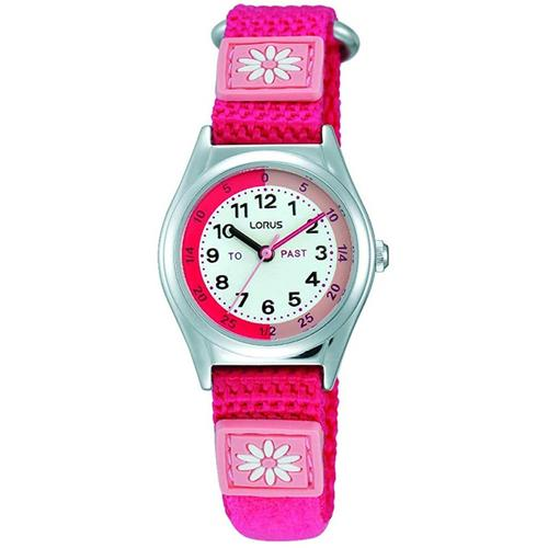 Lorus Time Teacher Childrens Watch with Canvas Strap - Pink