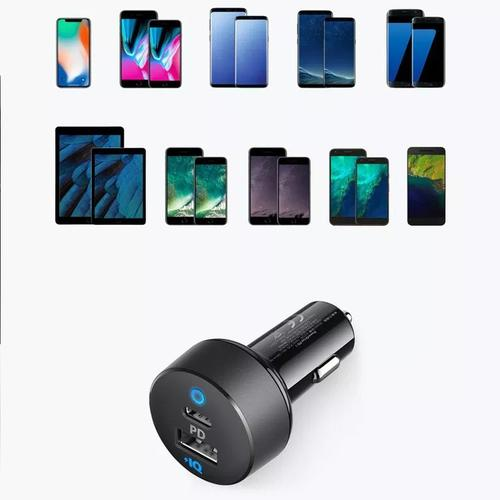 Anker PowerDrive PD 2 Car Charger 18W IQ USB-C and USB Ports
