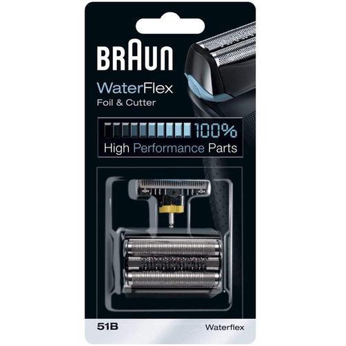 Braun 51B Waterflex Series Replacement Foil and Cutter Pack  - Black