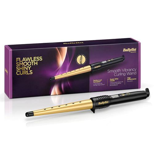 BaByliss Smooth Vibrancy Curling Wand with 5 Heat Settings
