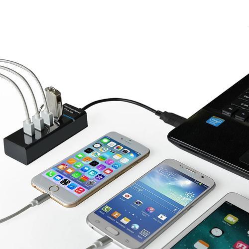 MyMemory 4 Port USB 3.0 Hub Extender - Black